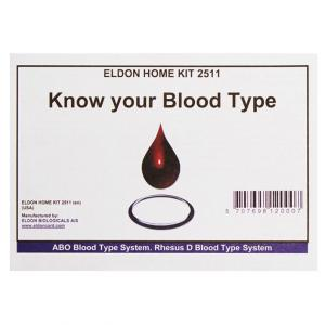EldonCard ABO Blood Type Home Kit