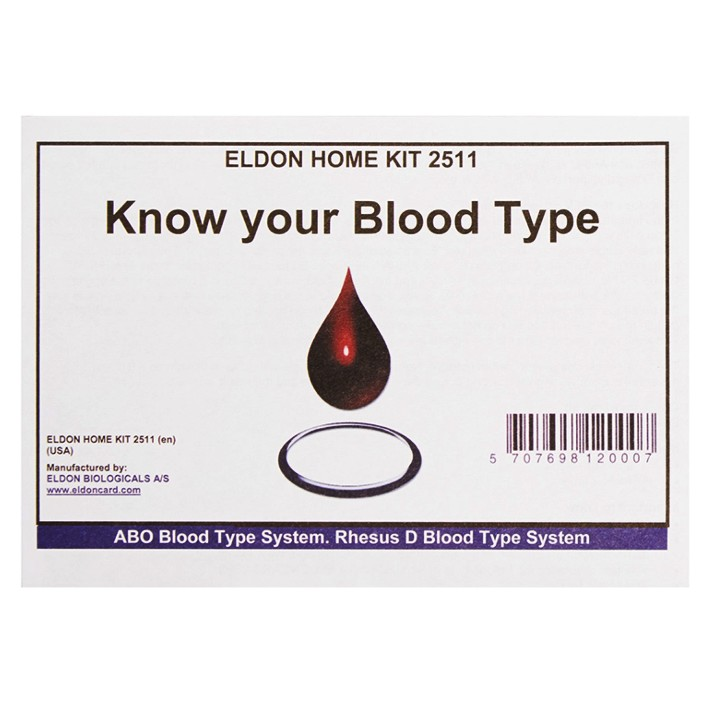 EldonCard ABO-Rh Blood Typing Home Kit