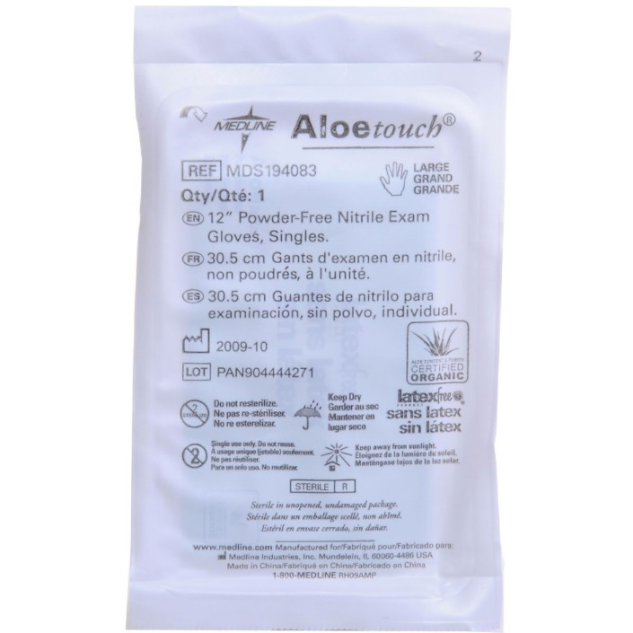 Large Aloe Nitrile Sterile Glove PAIR