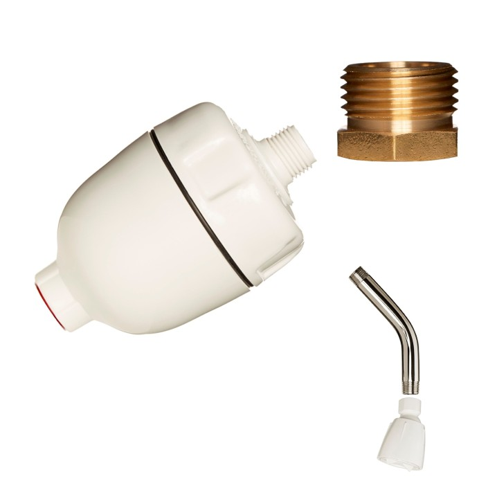 Dechlorinating Water Filter with Shower Hose Adapter